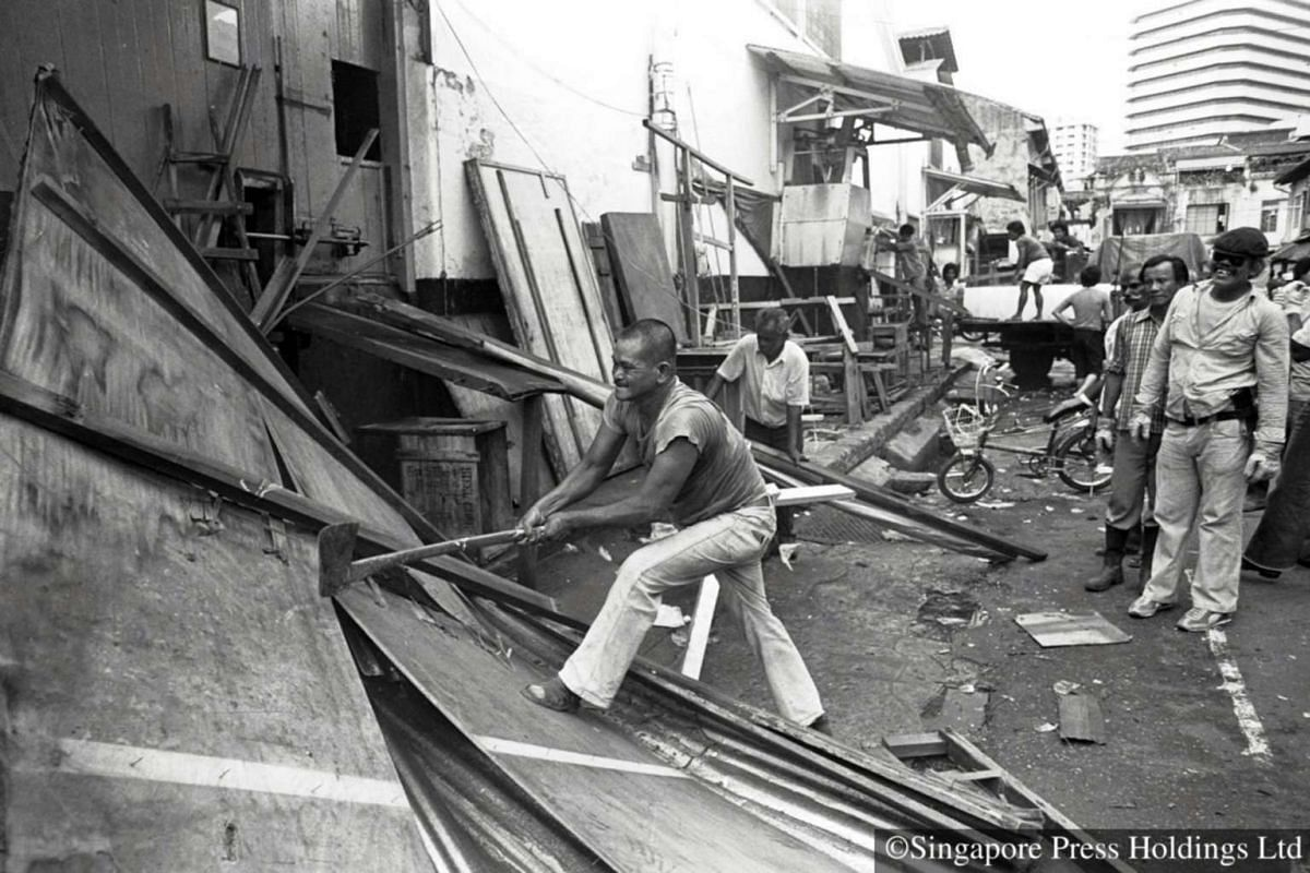 1982: Where once a staggering array of goods were displayed, there were just planks, boxes and debris. And where once bustling crowds haggled, the only noise was from a group of workers demolishing the stalls and sheds.