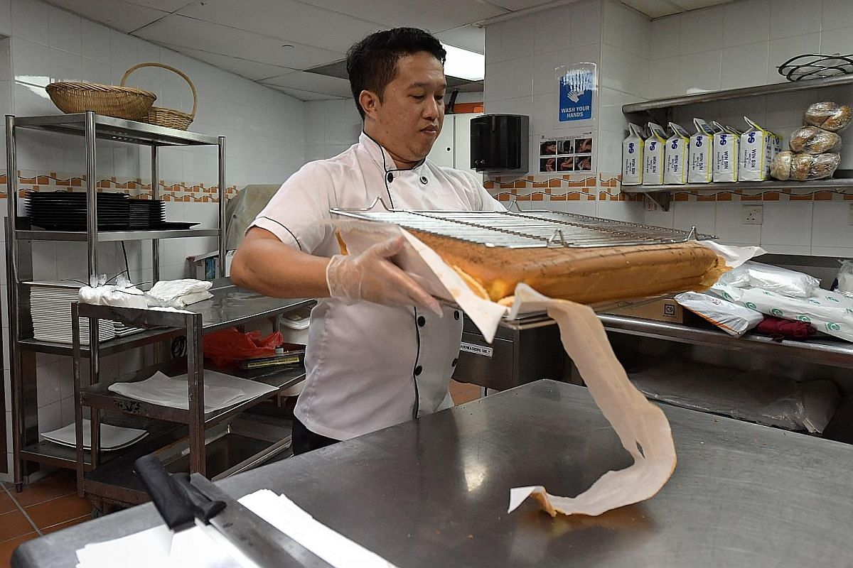 Franchise owner Adam Ahmad went to Taiwan with his business partner to taste the cake at various stores before picking Le Castella. Chef Jim Wong learnt the recipe for Ah Mah Homemade Cake from a Taiwanese chef.
