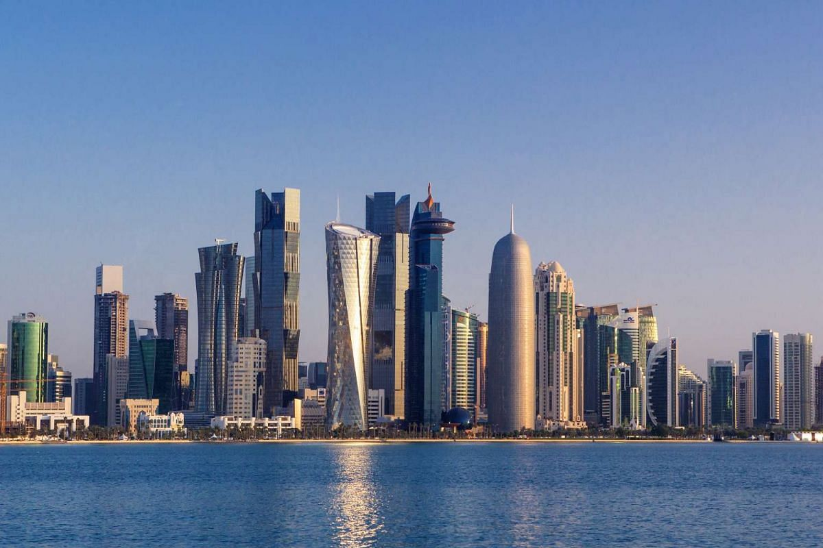 The high-rise skyline of Qatar's capital Doha. Qatar has been accused by other countries in the Middle East of supporting extremist groups but it roundly denies that it supports terrorism. It is a founding member of the Gulf Cooperation Council.