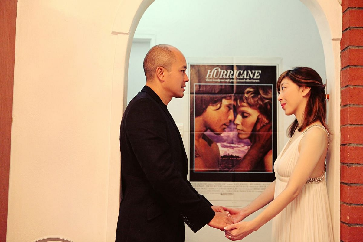 One of the spots where the wedding photographs were taken featured a poster for the 1979 movie Hurricane – Sumiko Tan's nickname for her husband back in junior college was Hurricane.