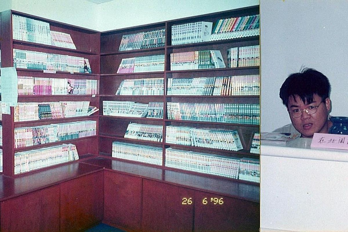 My life so far: Mr Rodney Tang, in 1996, opened his first venture, a comic-book shop renting out a personal collection of comics.