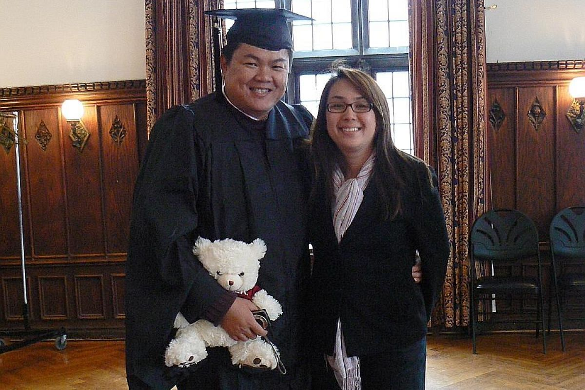 My life so far: With his wife, Janice, in 2008, when he graduated with an MBA from The University of Chicago Booth School of Business.