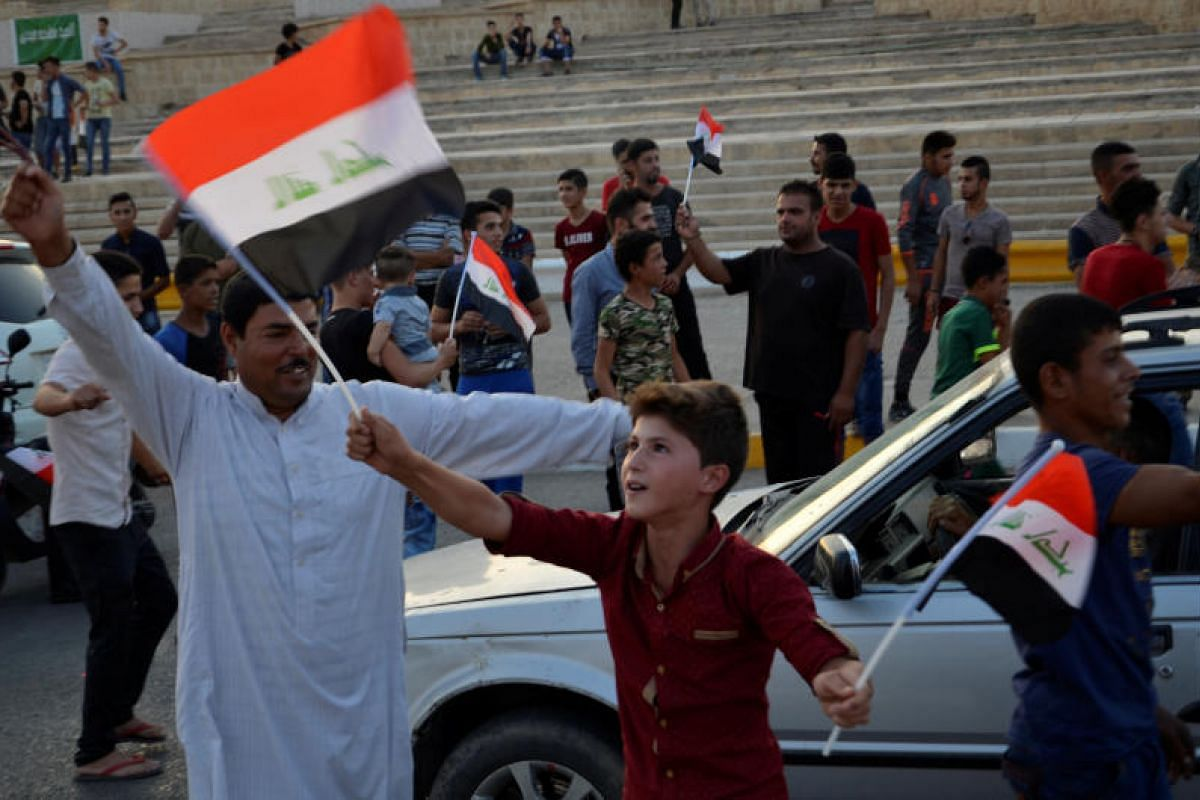 Mosul residents taking to the streets on Sunday (July 9) to celebrate the liberation of their embattled city. The government's victory in Mosul sparked joyful celebrations across Iraq on Sunday.