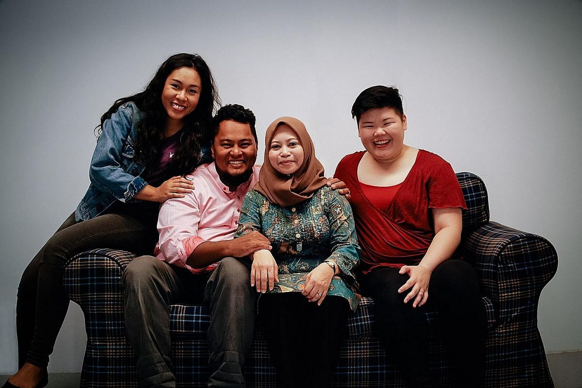 The cast of Drip (above), by emerging playwright Nabilah Said. The script, about a mixed marriage, had The Necessary Stage's resident playwright Haresh Sharma laughing so hard that he decided to direct it.