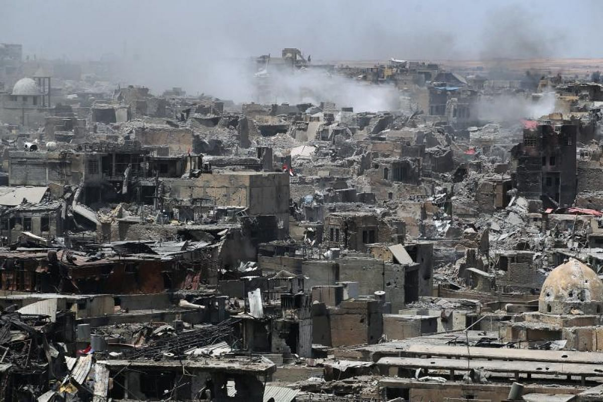 What remains of Mosul's Old City after the fighting. Human rights groups say Mosul's civilians are still at grave risk, having just endured a catastrophic ordeal.