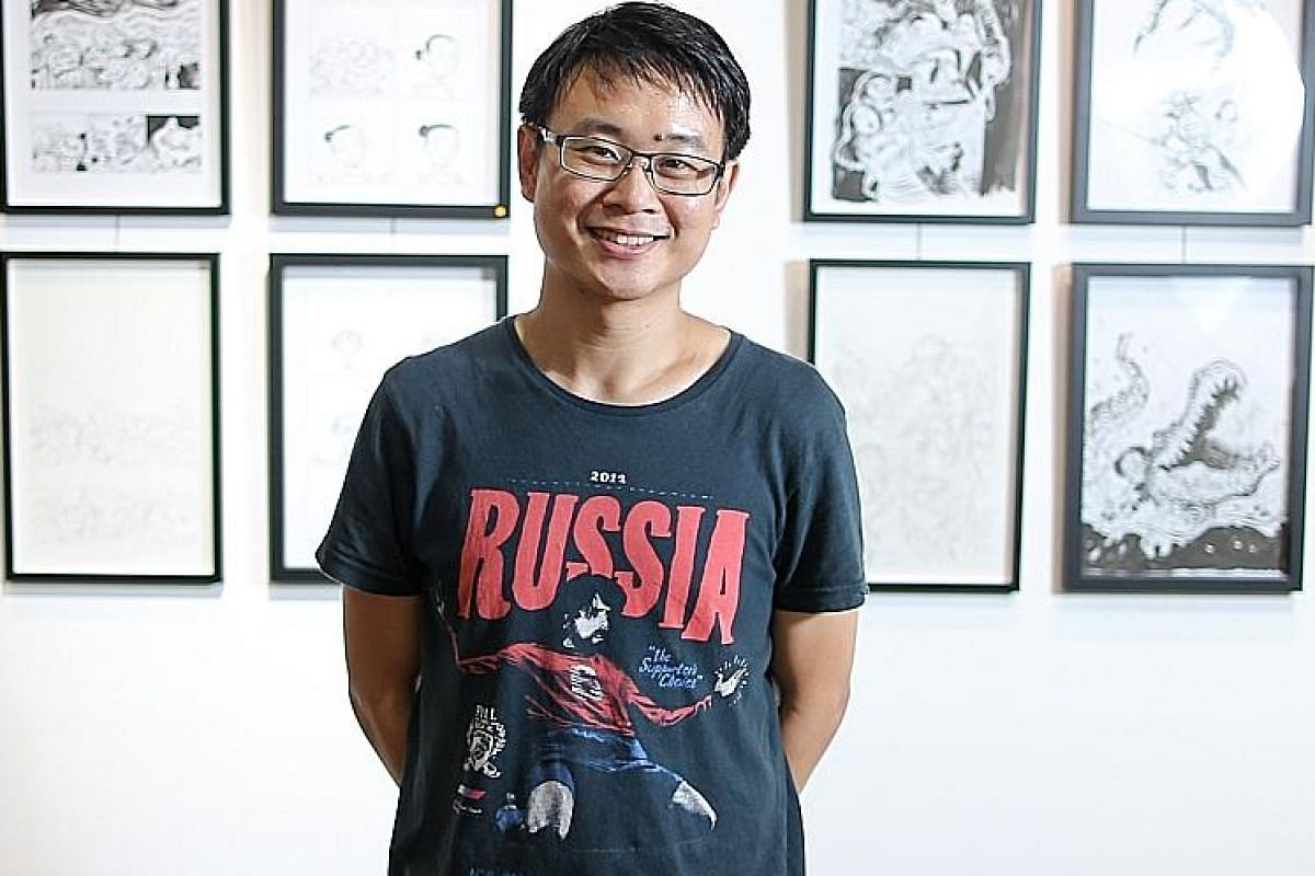 Graphic novelist Sonny Liew (above) will draw his illustrations live at Becoming Graphic, while theatre director Edith Podesta is working on ways of translating the language of comics into that of theatre.