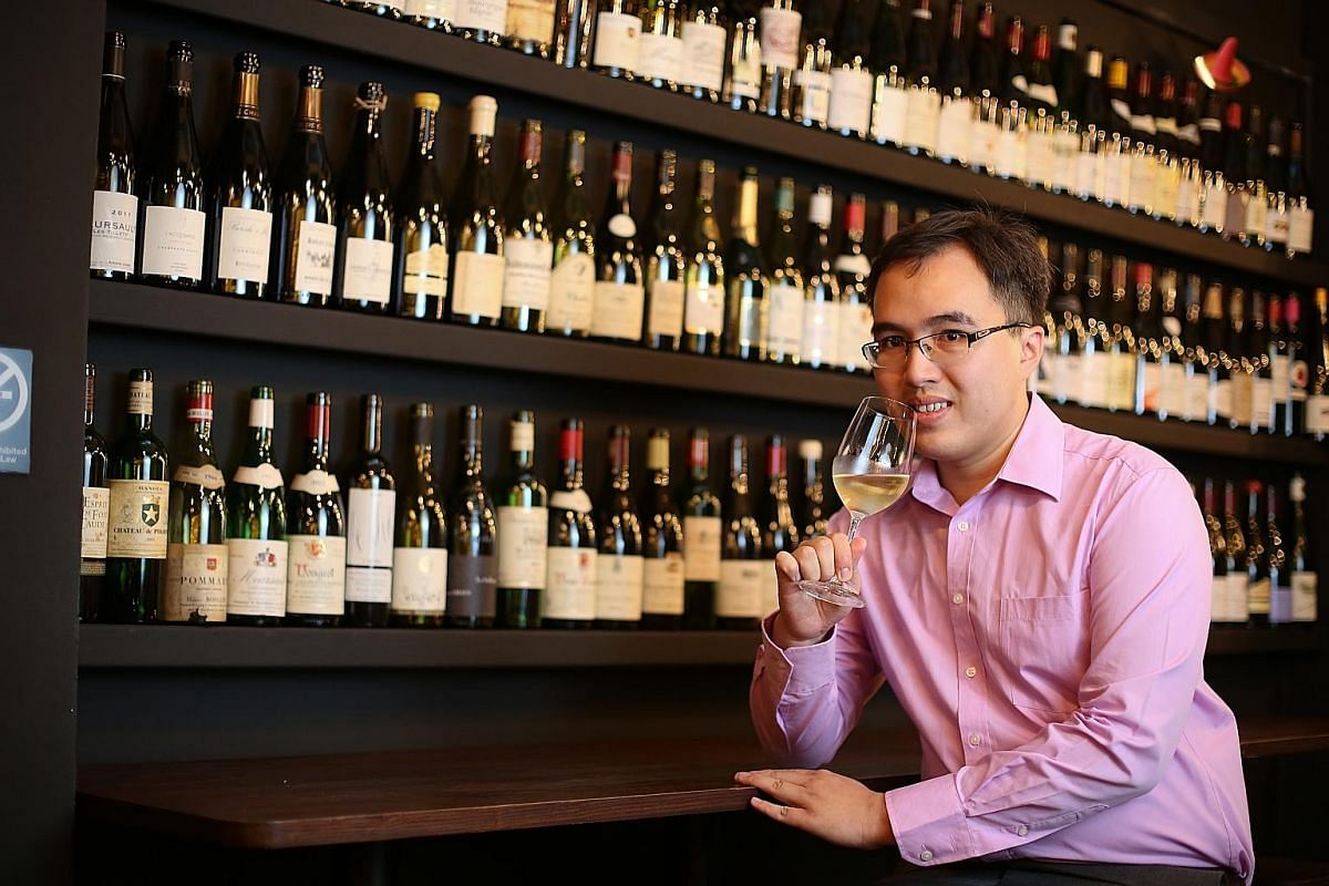 Master wine taster Jackie Ang attributes his skill to hard work and training.