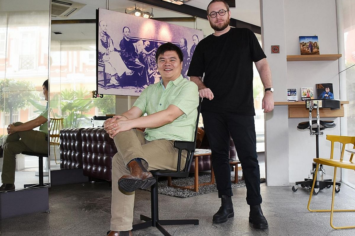 Unlisted Collection's founder Loh Lik Peng and chef Clayton Wells (far right) of Automata in Sydney are partnering to open restaurant-bar concept Blackwattle in September. Grilled chicken skewers with gong bao sauce is one of the dishes in the newly