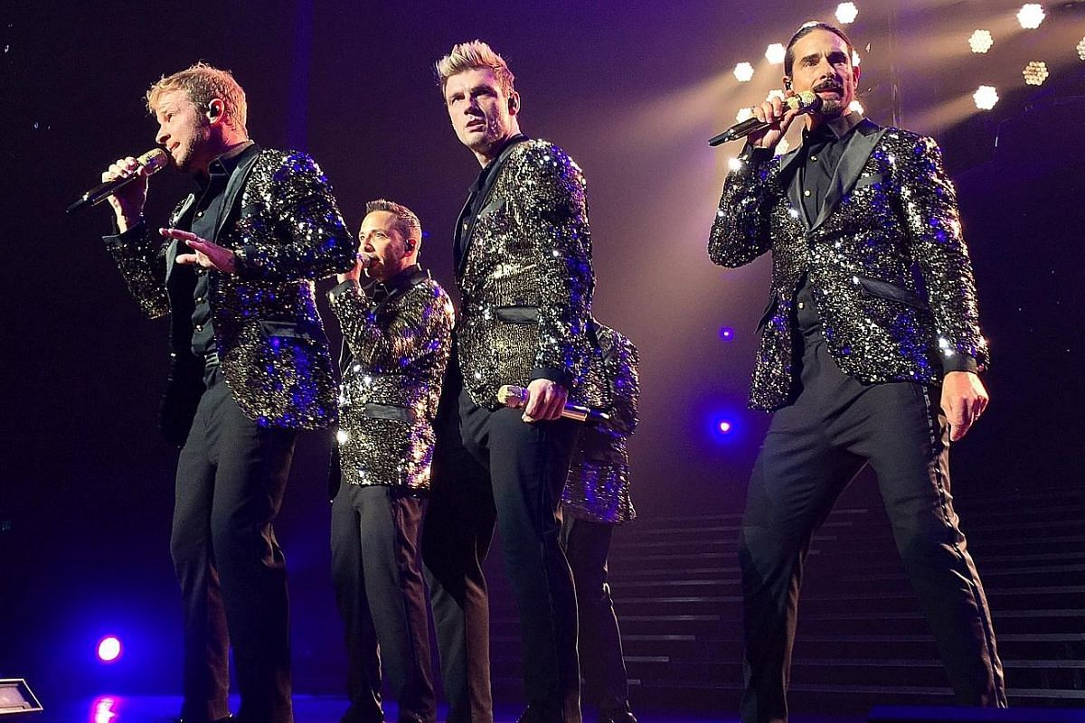 American boyband Backstreet Boys performing at The Axis in Las Vegas on June 28.
