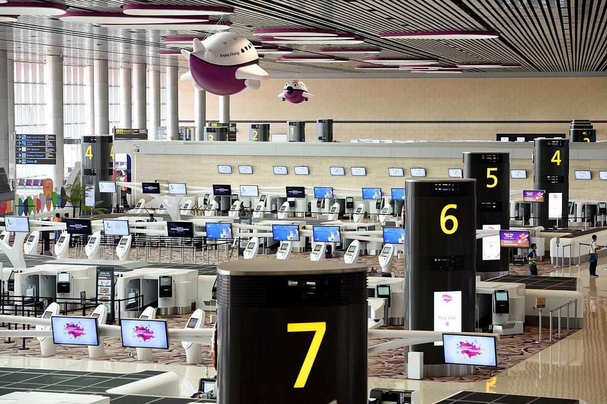 Changi Airport's new Terminal 4 makes extensive use of technology to streamline processes. Some of the features include self-service check-ins and facial recognition systems.
