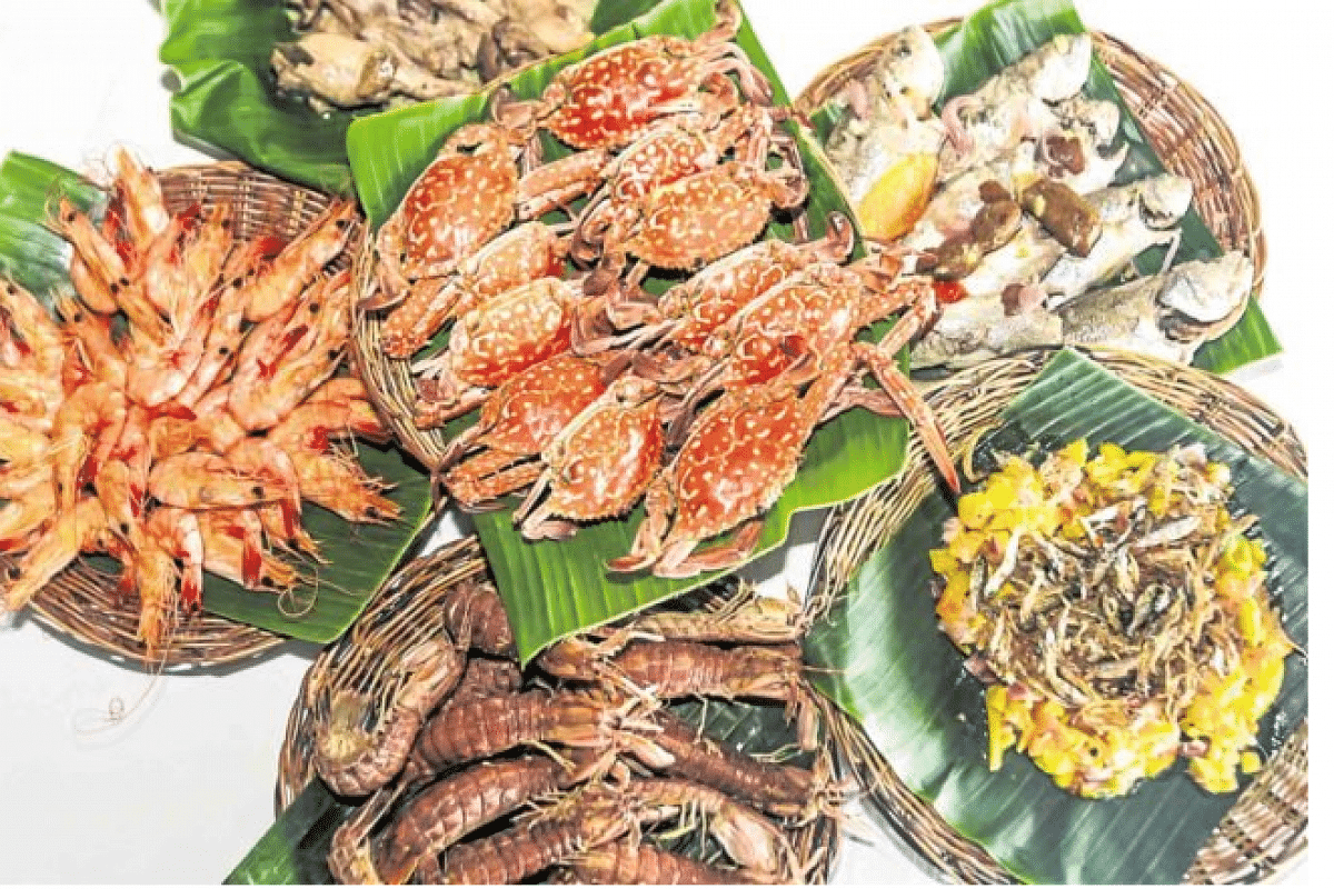 Bounty of the sea: fresh seafood dishes served at the Tena sa Latian tour by Lihan Enterprises.