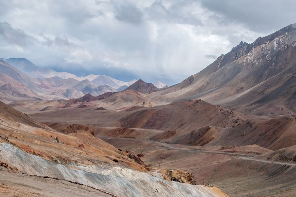 The Ak-Baital Pass, at 4,655m, is the highest point of the Pamir Highway in Central Asia.