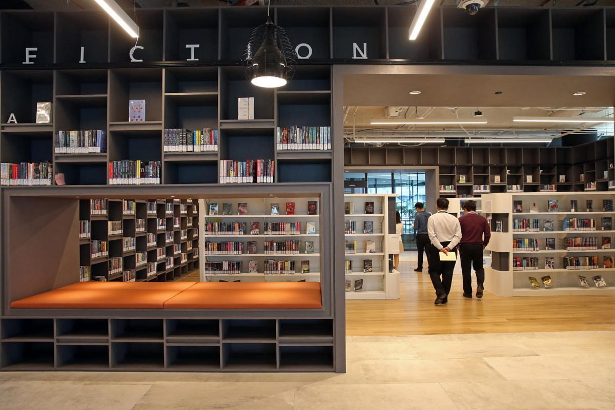 The teens section of the Tampines Regional Library at its new location in Our Tampines Hub.
