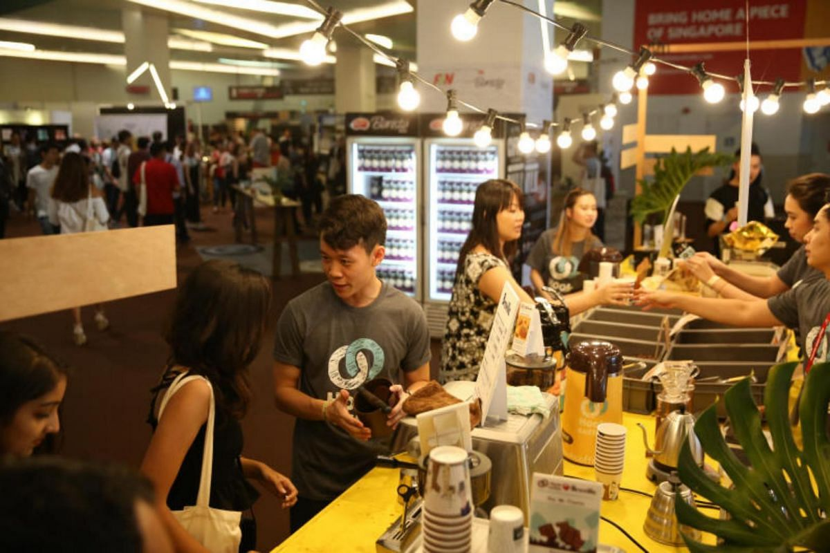 Visitors at the Singapore Coffee Festival on Aug 4, 2017.