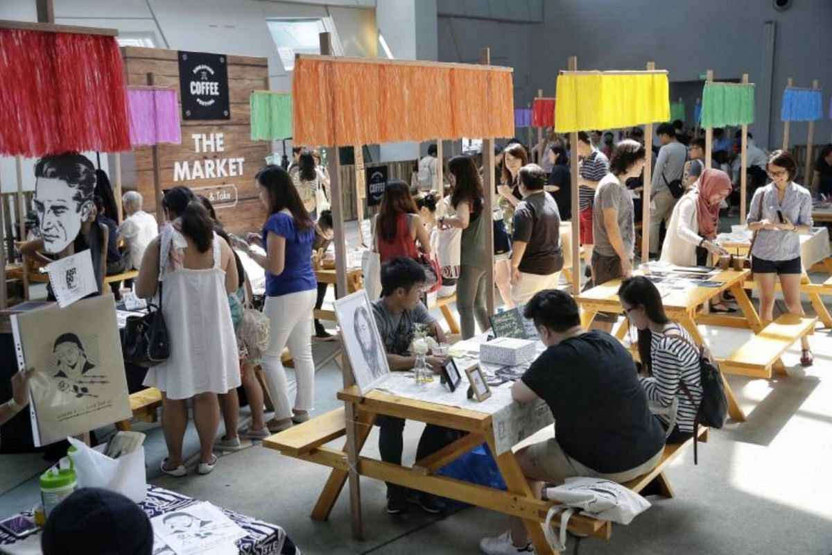 Barter Market by Indigoism, where goods and services are bartered instead of money, at the Singapore Coffee Festival on Aug 5, 2017.