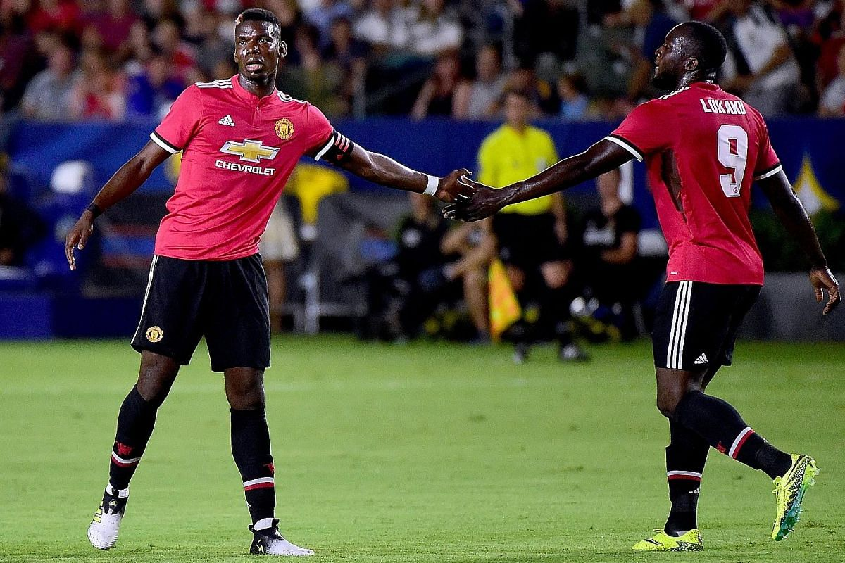 The understanding between Paul Pogba (left) and Romelu Lukaku will be key to Manchester United's upcoming season. Pogba is expected to be given the licence to surge forward and link up with Lukaku.