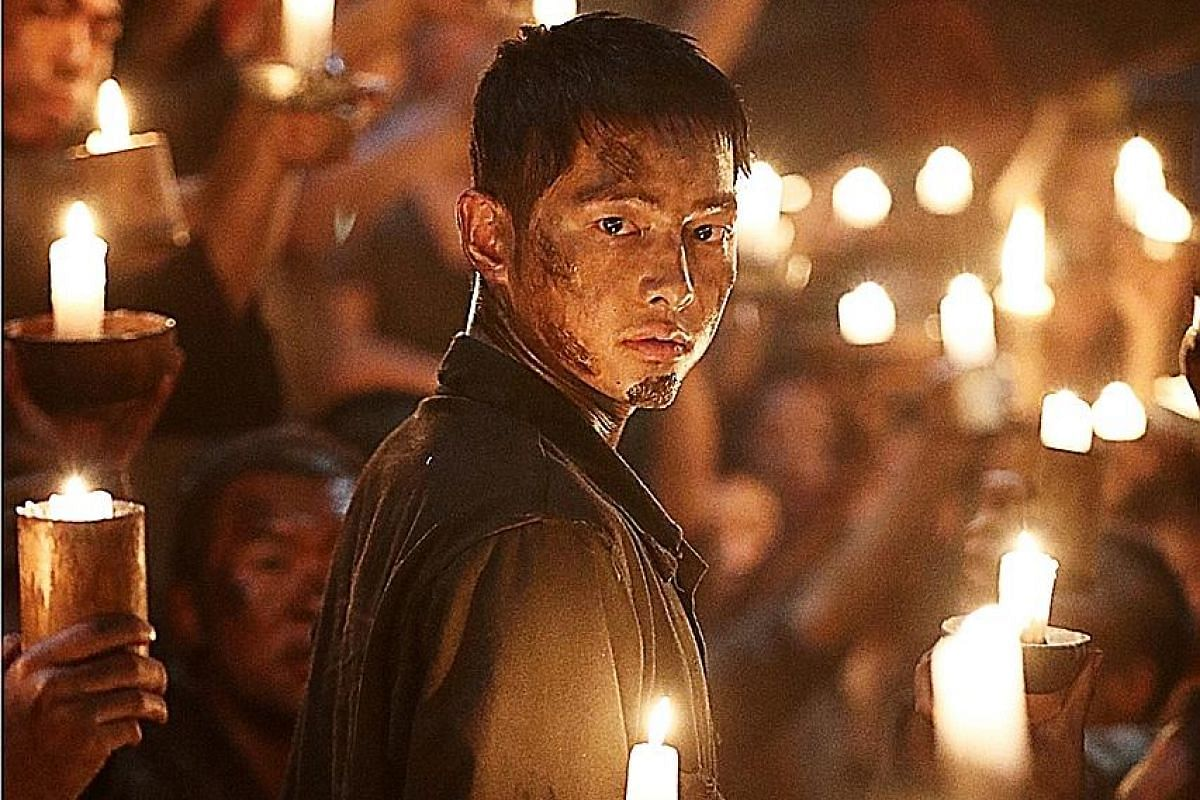 In The Battleship Island, Song Joong Ki plays a Korean soldier sent on a mission to a forced labour camp on Japan's Hashima Island, known as Battleship Island, during World War II.