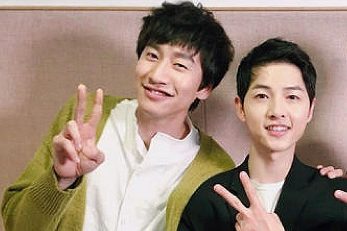 Song (right, with co-host Lee Kwang Soo).