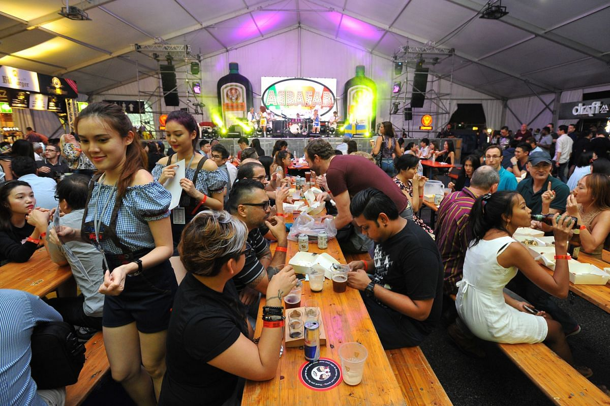 Beerfest Asia, held at Marina Promenade last year (above), offers visitors a chance to savour a wide variety of international beers at one location.