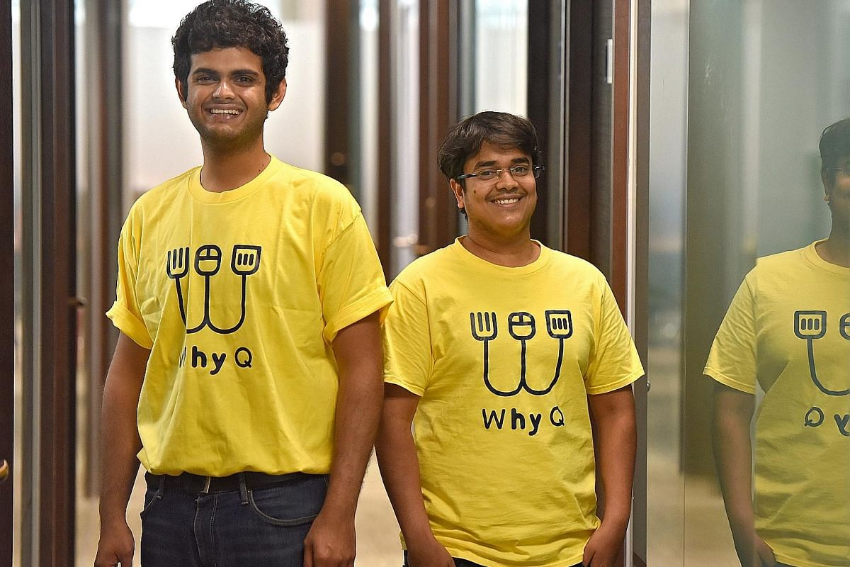 WhyQ co-founders Varun Saraf (right) and Rishabh Singhvi.