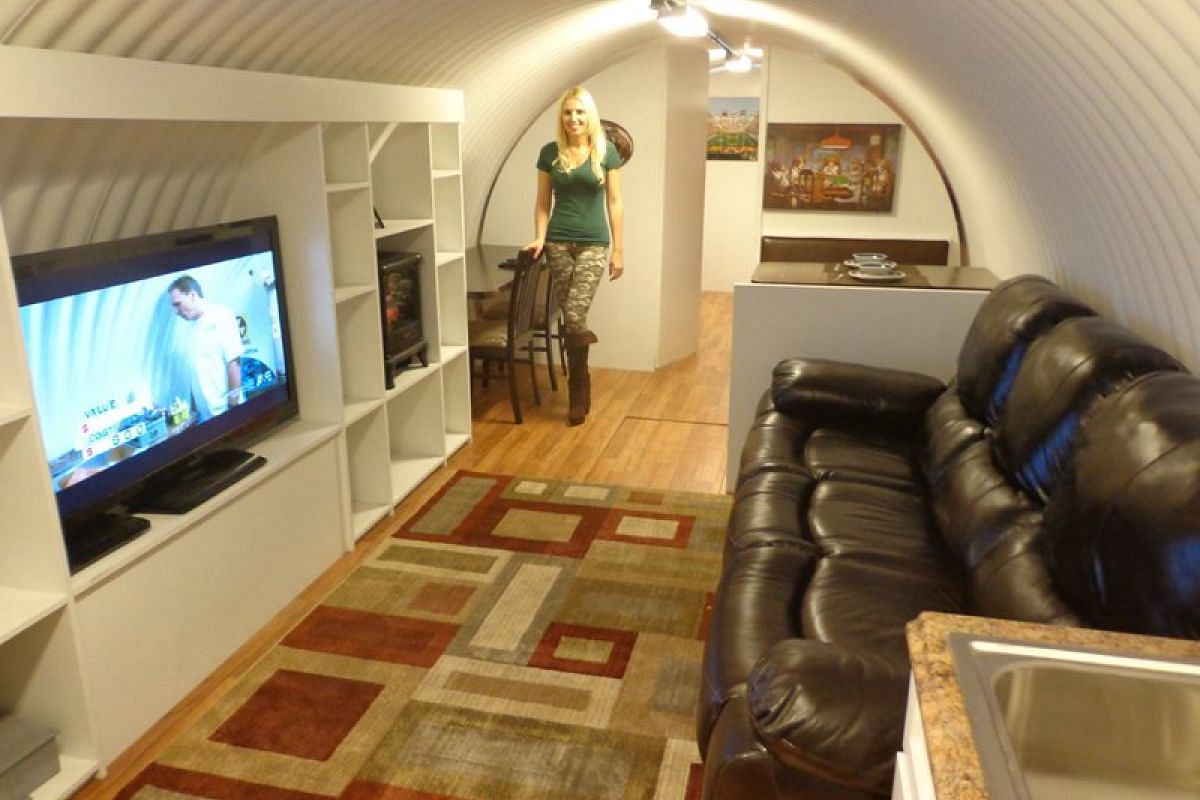 Many of the bunkers that Mr Hubbard sells comes with regular home comforts such as a fully-equipped kitchen, television, bedrooms and a complete bathroom.