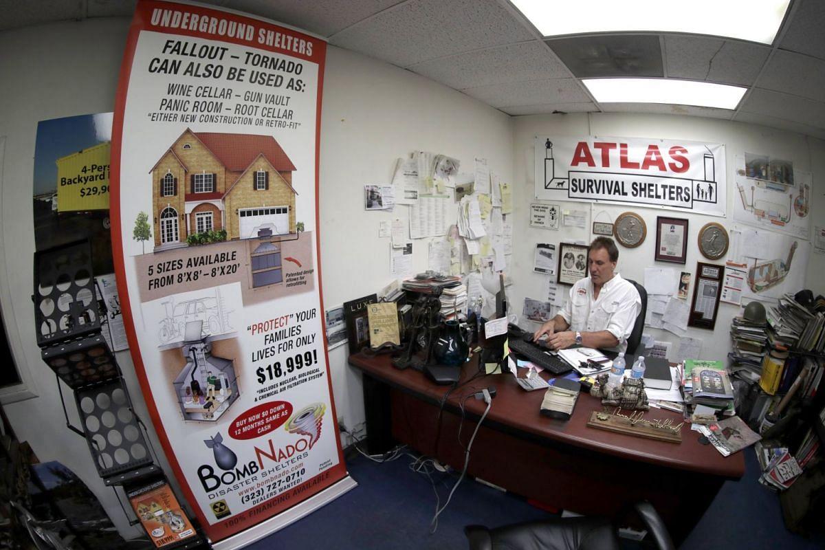 Mr Hubbard at his warehouse in Montebello, California.
