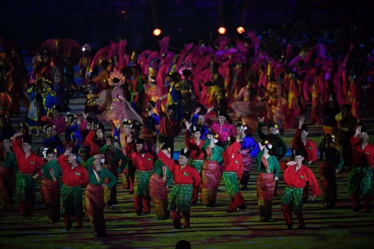 A performance during the SEA Games opening ceremony.