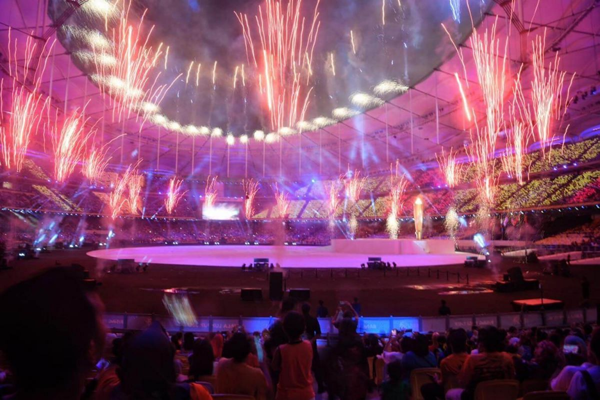 Finale fireworks during the SEA Games opening ceremony.