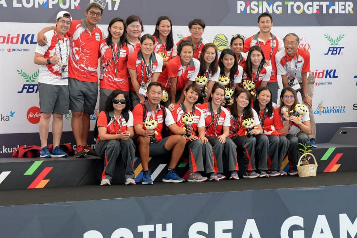 Singapore lost 1-5 to Thailand in the 29th SEA Games women's water polo competition at the National Aquatic Centre at Bukit Jalil, Kuala Lumpur on Aug 19, 2017.