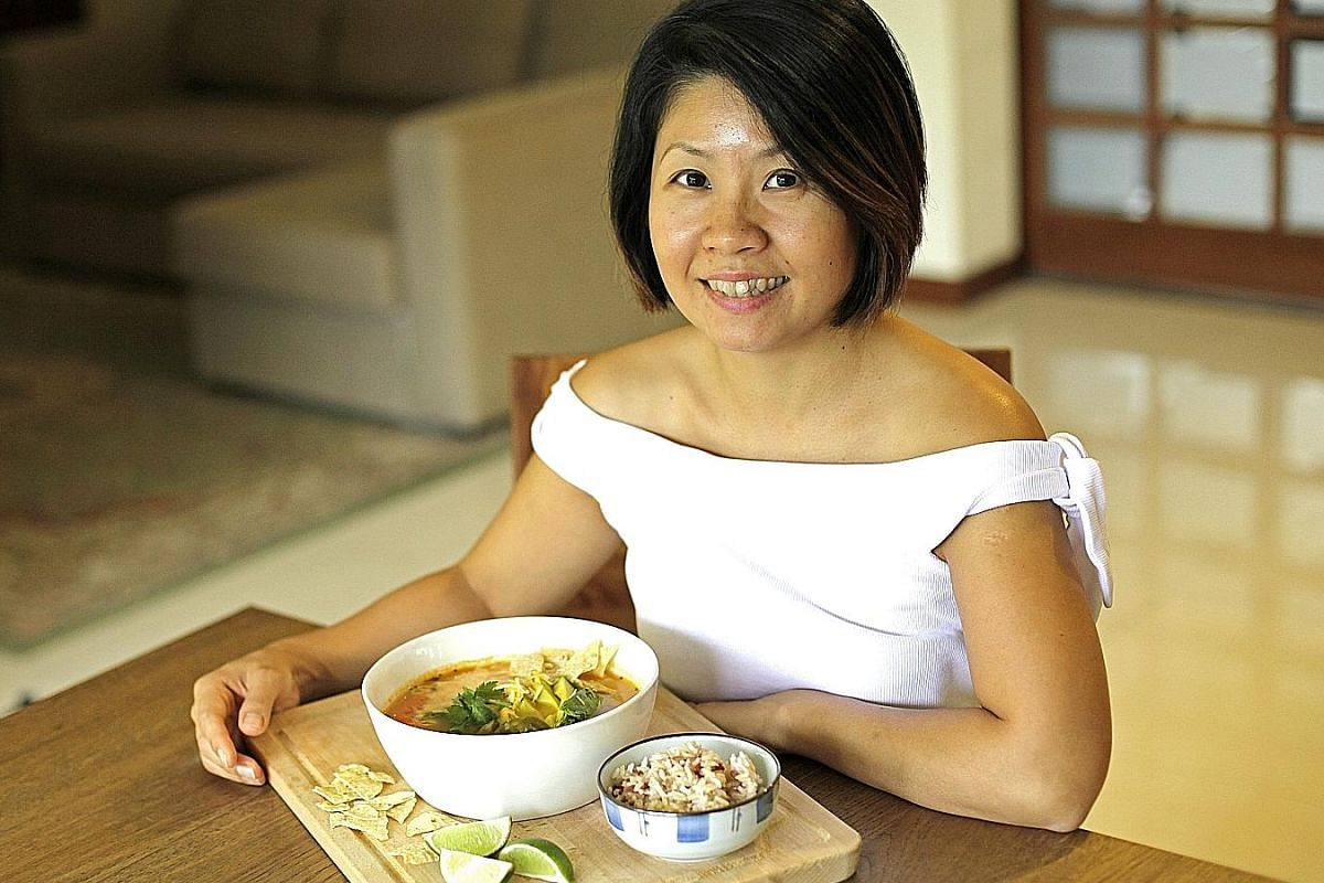 Mrs Jeanne Chan-Walz found an unlikely alternative to chicken porridge when she felt under the weather while living in San Diego - chicken tortilla soup.