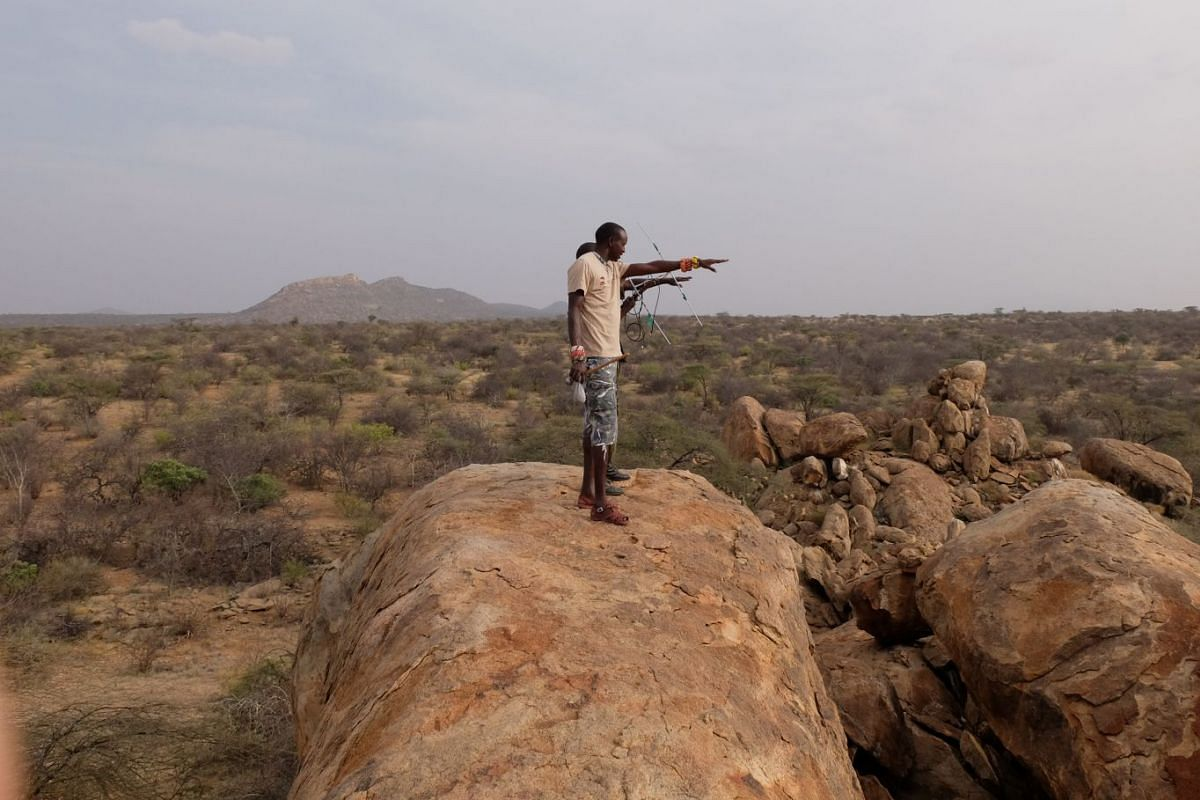Rangers in the Sera conservancy looking out for black rhinos.