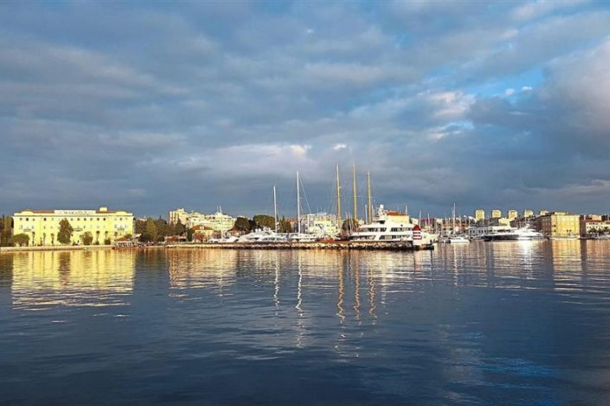 The beautiful harbour in Zadar, a Croatian city which has been voted the Best European destination for 2016.