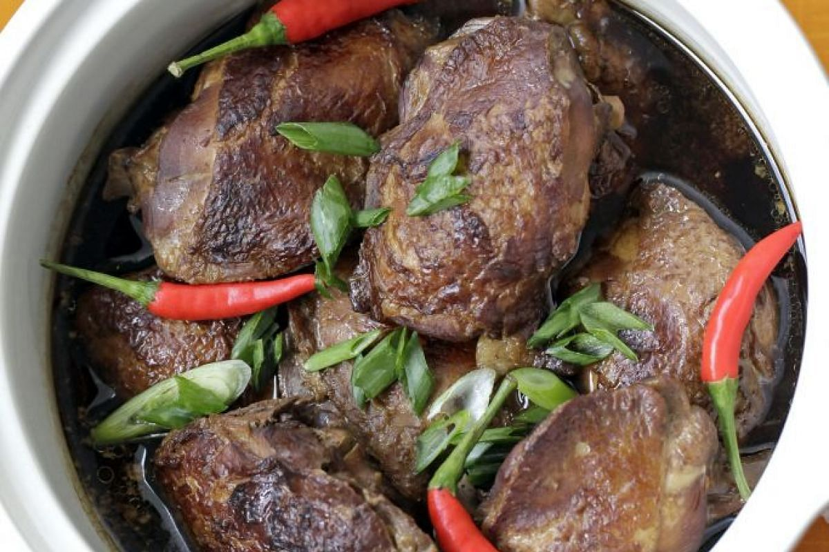 Cook chicken adobo with enough gravy to spoon over hot rice.