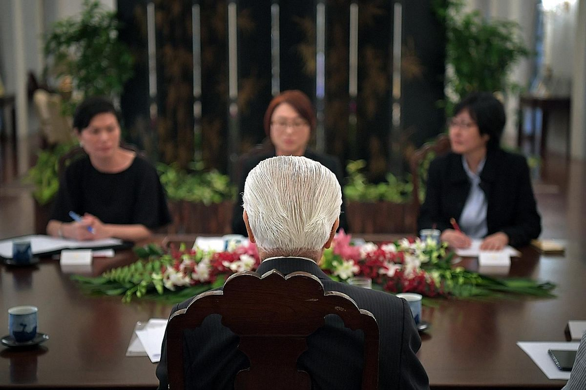 President Tony Tan Keng Yam at work in his office at the Istana. As the head of state, the President is the symbolic figure representing Singapore at ceremonies and on the international stage, a role that requires him to keep abreast of current devel