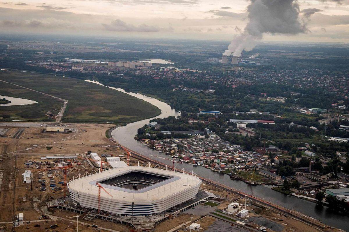 The Kaliningrad Stadium on Aug 27, 2017.