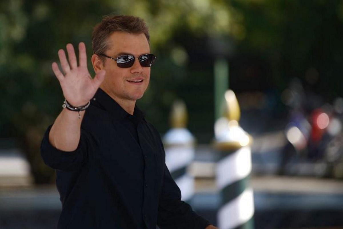 US actor Matt Damon arrives at the Excelsior Hotel during the 74th Venice Film Festival on Aug30, 2017 at Venice Lido.