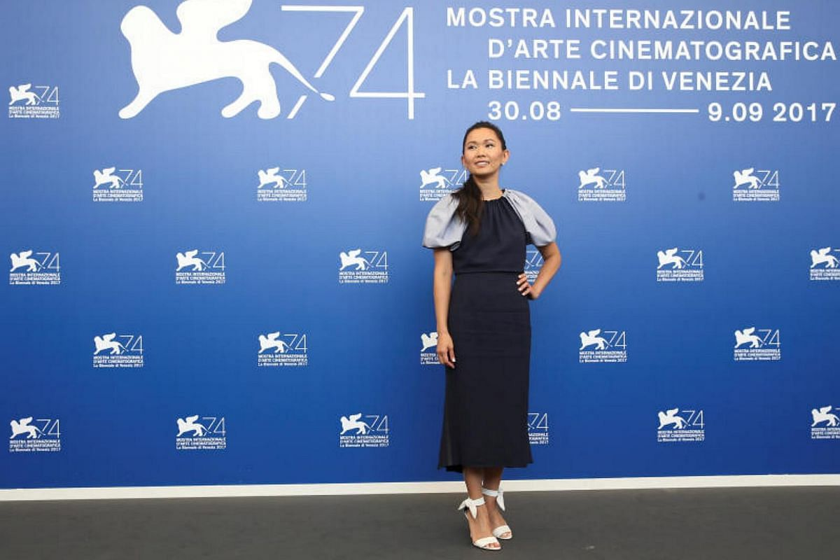 Actor Hong Chau poses during a photocall for the movie Downsizing, at the 74th Venice Film Festival in Venice, Italy on Aug 30, 2017.