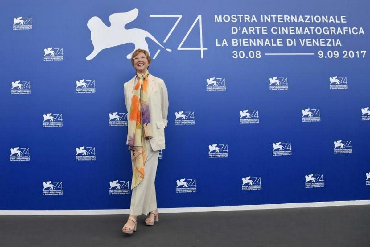 US actress and president of the jury section, Annette Bening, attends a photocall of the jury of the 74th Venice Film Festival on Aug 30, 2017 at Venice Lido.