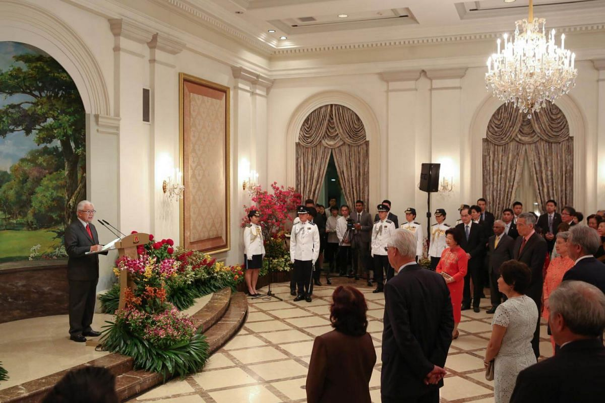 President Tony Tan's speech at his farewell reception and ceremony held at the Istana.