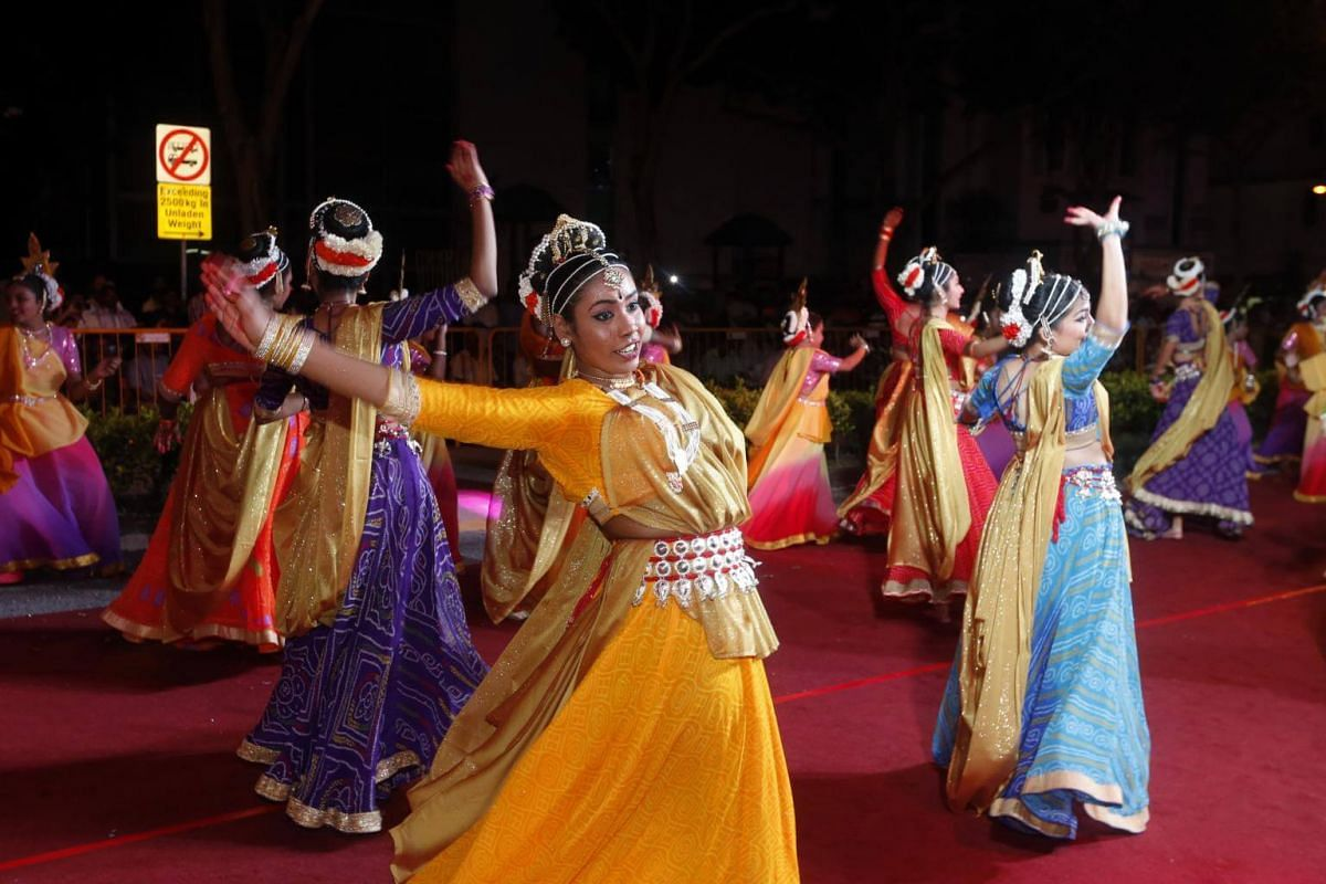 Dancers from the Usharani Maniam Dance School perform as part of the celebration.