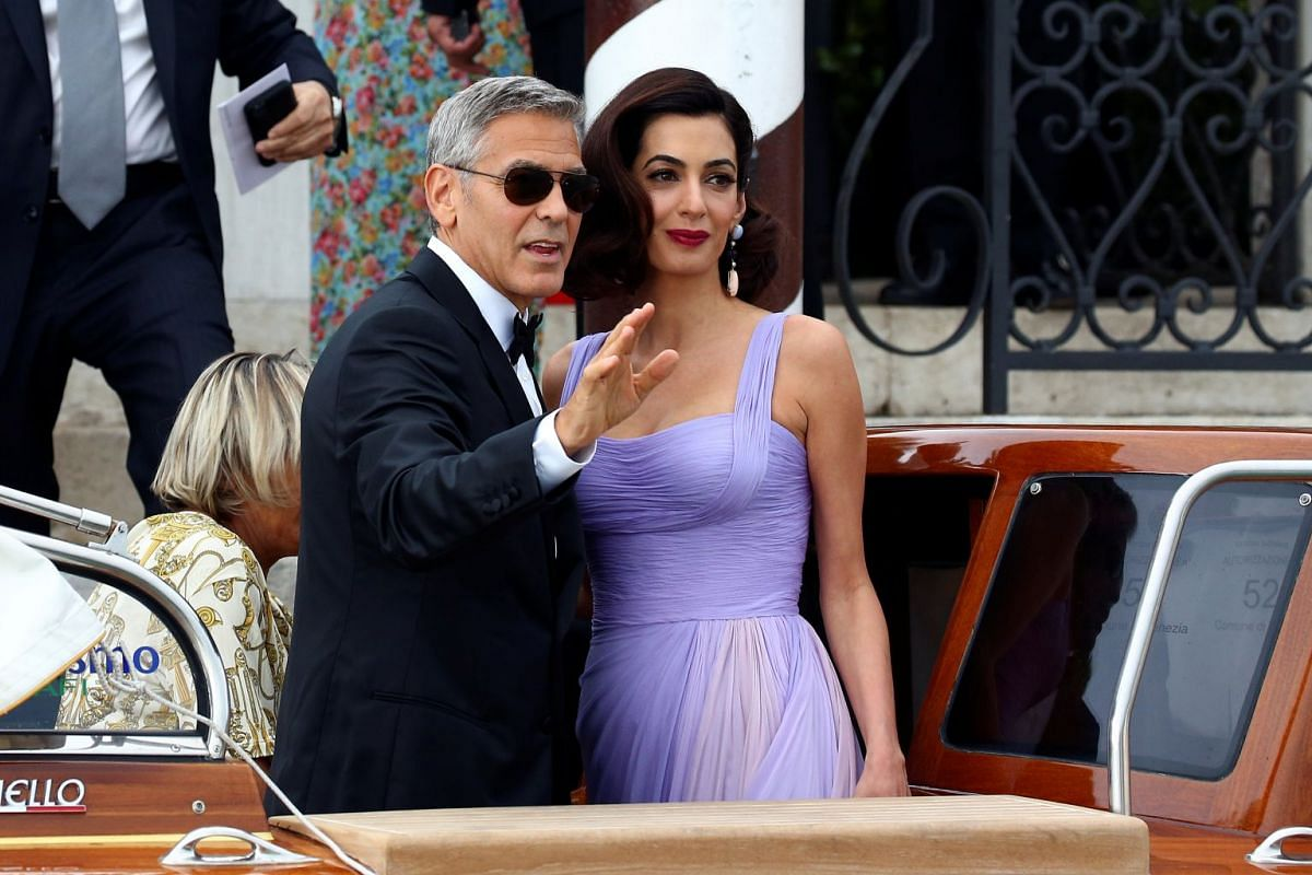 Actor and director George Clooney and his wife Amal leaves the hotel before the red carpet for the movie Suburbicon at the 74th Venice Film Festival in Venice, Italy September 2, 2017. PHOTO: REUTERS