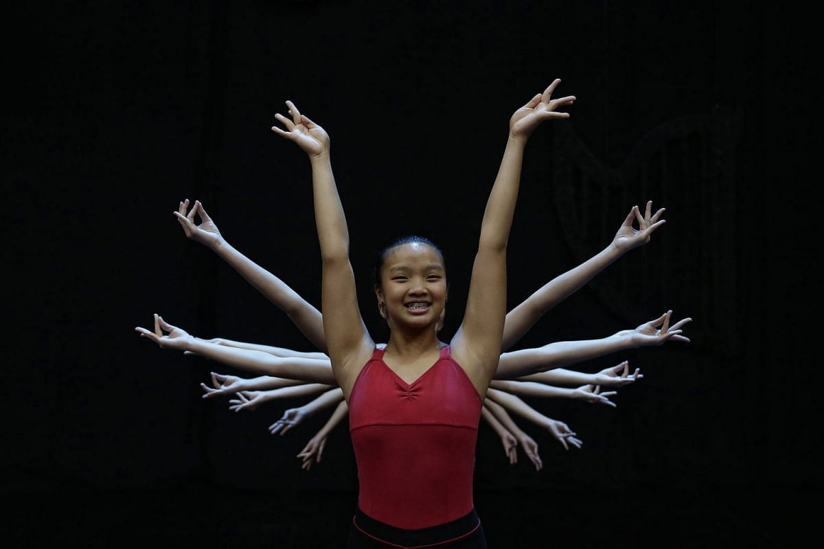 Taesha Tan, 13, and her fellow dancers from dance school Jitterbugs Swingapore showing off their moves at the Resorts World Theatre at Resorts World Sentosa (RWS), September 4, 2017. They will be taking part in the 13th annual ChildAid fund-raising c