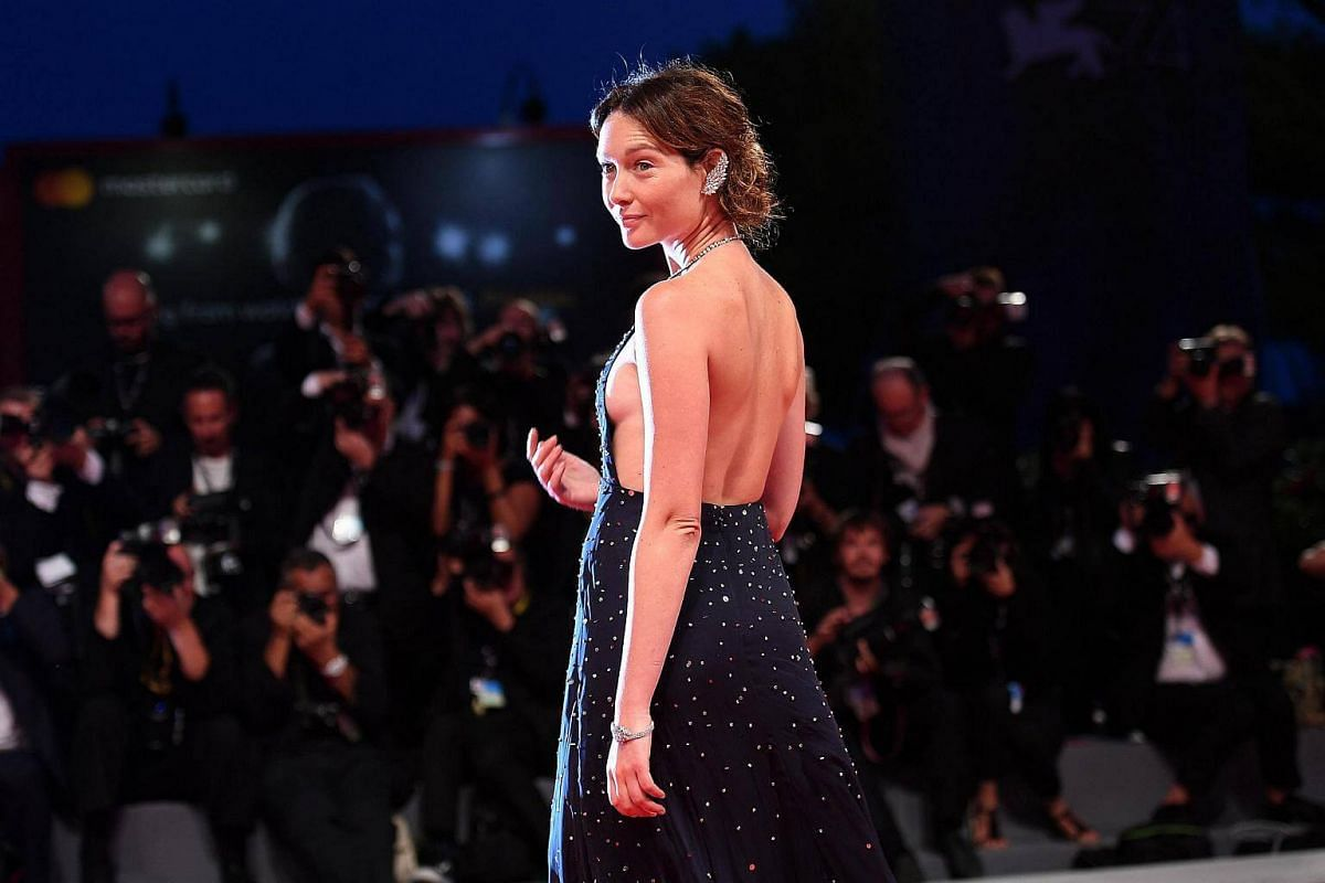 Actress Cristiana Capotondi arrives for the premiere of Three Billboards Outside Ebbing, Missouri during the 74th Venice Film Festival, in Italy, on Sept 4, 2017.