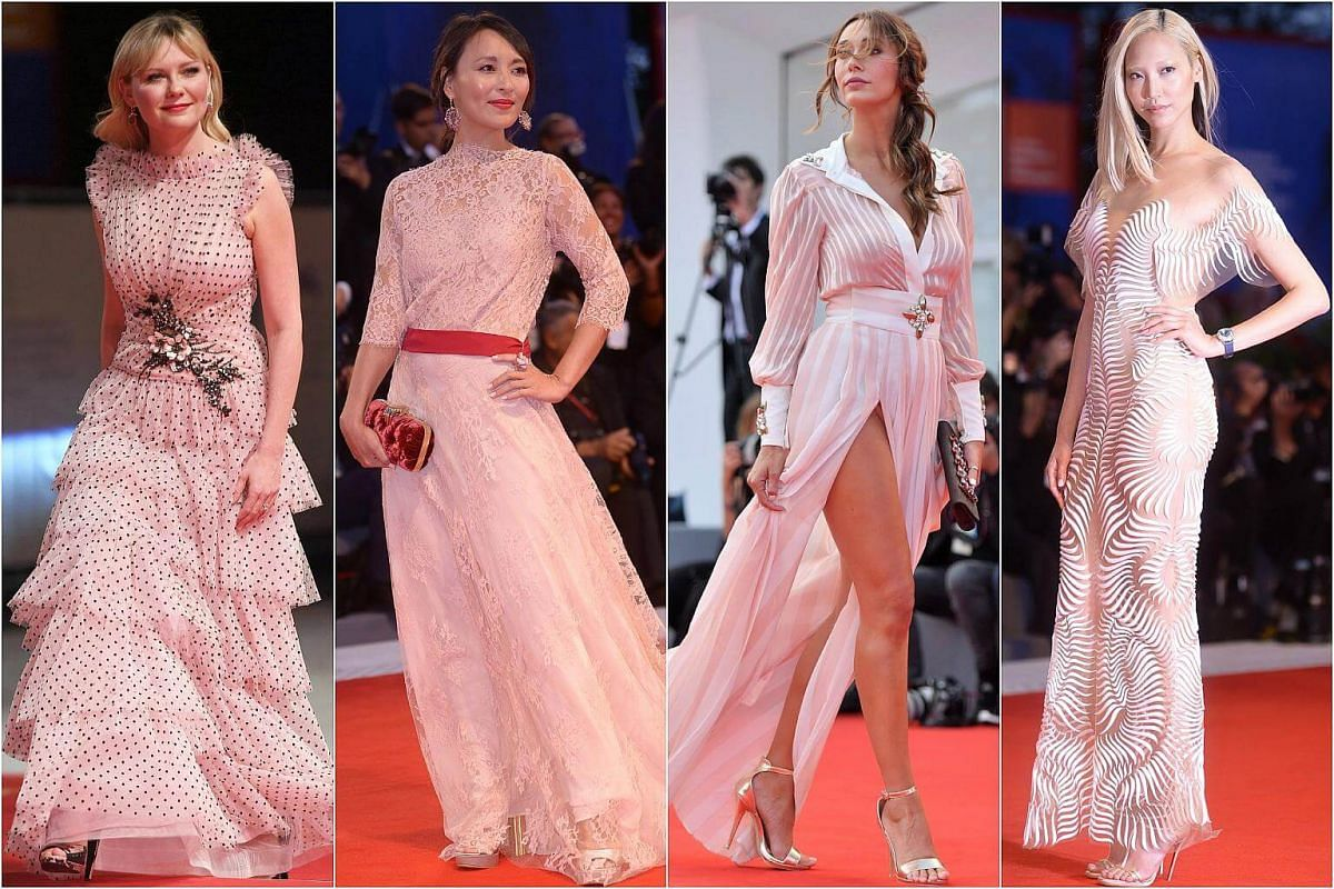 (From left) Kirsten Dunst, Jun Ichikawa, Sonia Lorenzini and Soo Joo Park at the 74th Venice Film Festival, in Italy.