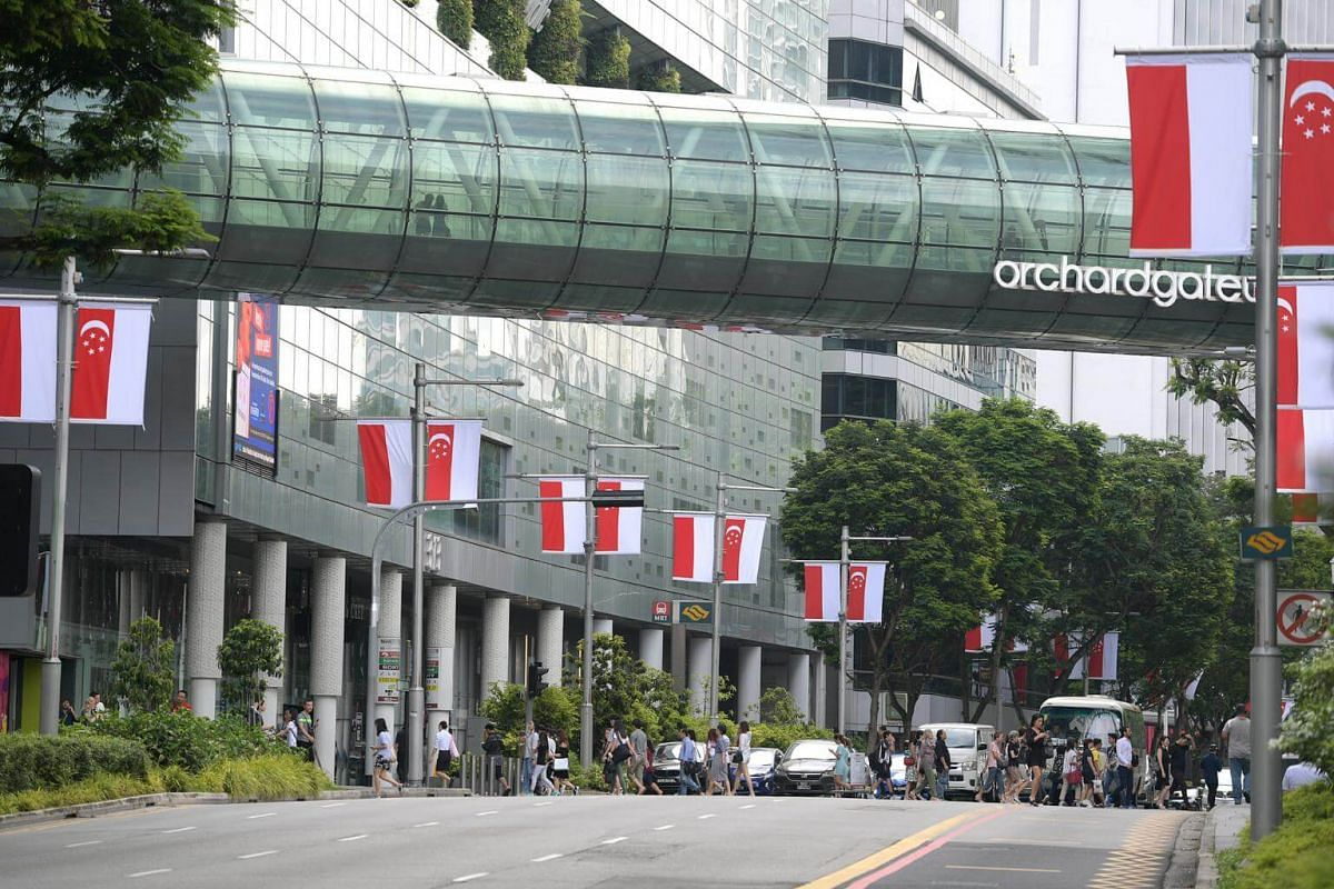 Indonesia and Singapore flags lined Orchard in anticipation for the meeting between President Jokowi and PM Lee on Sept 7.