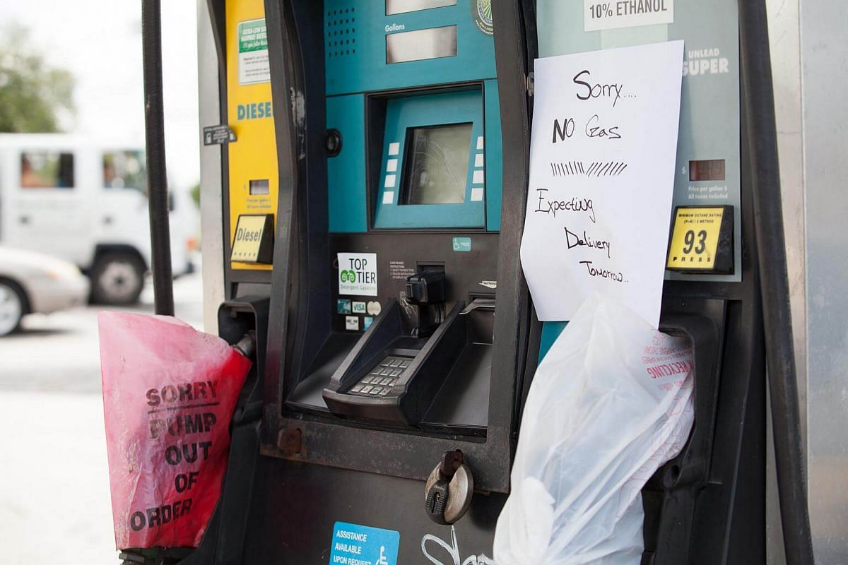 A fuel pump at a Valero Energy Corp gas station ahead of Hurricane Irma in Miami, on Sept 6, 2017.
