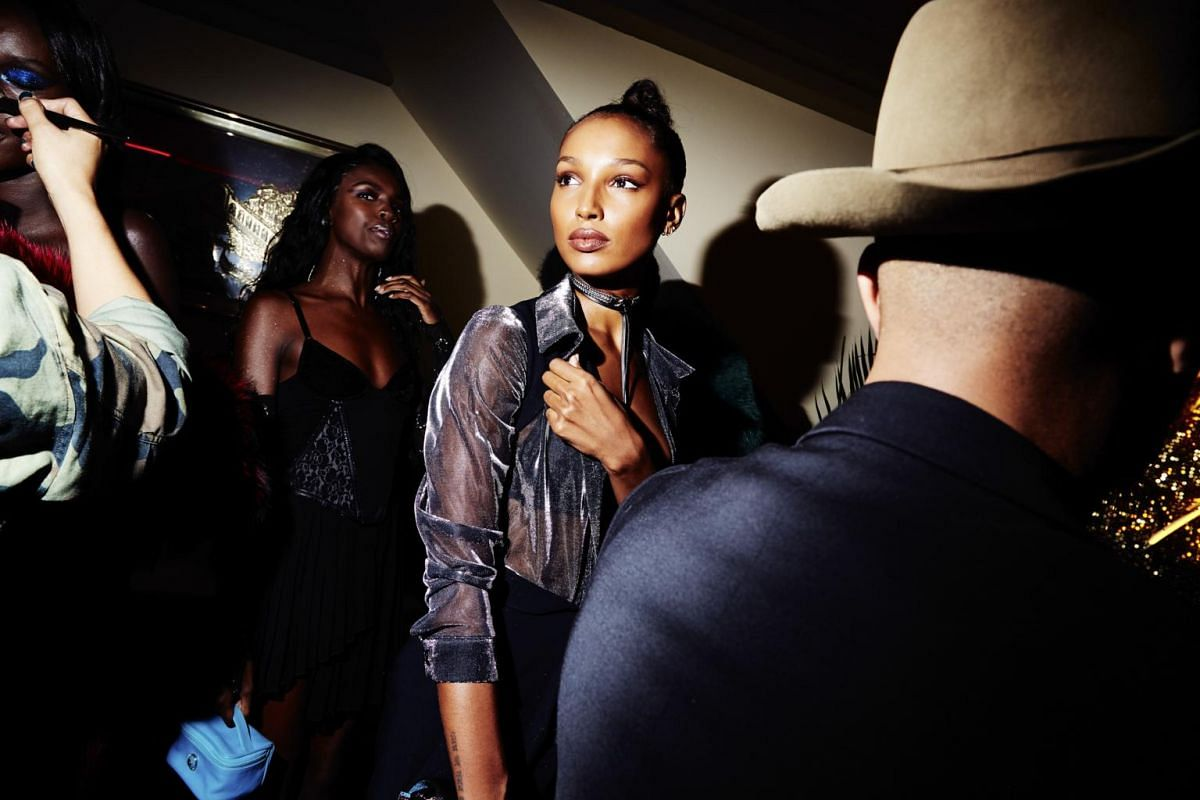 Lais Ribeiro at makeup artist Pat McGrath's vogue ball at China Chalet during New York Fashion Week, on Sept 6, 2017.