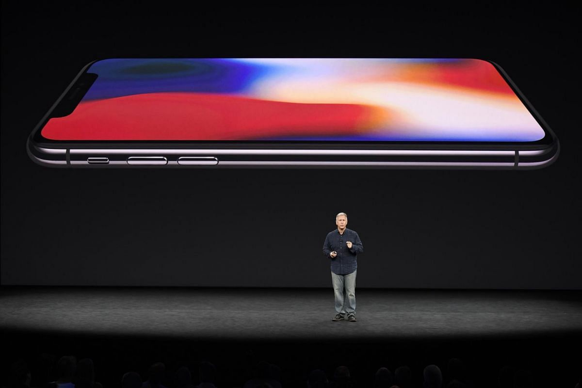 Mr Phil Schiller, senior vice president of worldwide marketing at Apple, speaks about iPhone X during an event at the Steve Jobs Theater in Cupertino, California, US, on on Sept 12, 2017.