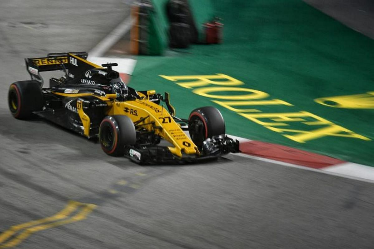 First and second practice session of the 2017 Formula One Singapore Airlines Singapore Grand Prix at the Marina Bay street circuit on Sept 15, 2017.