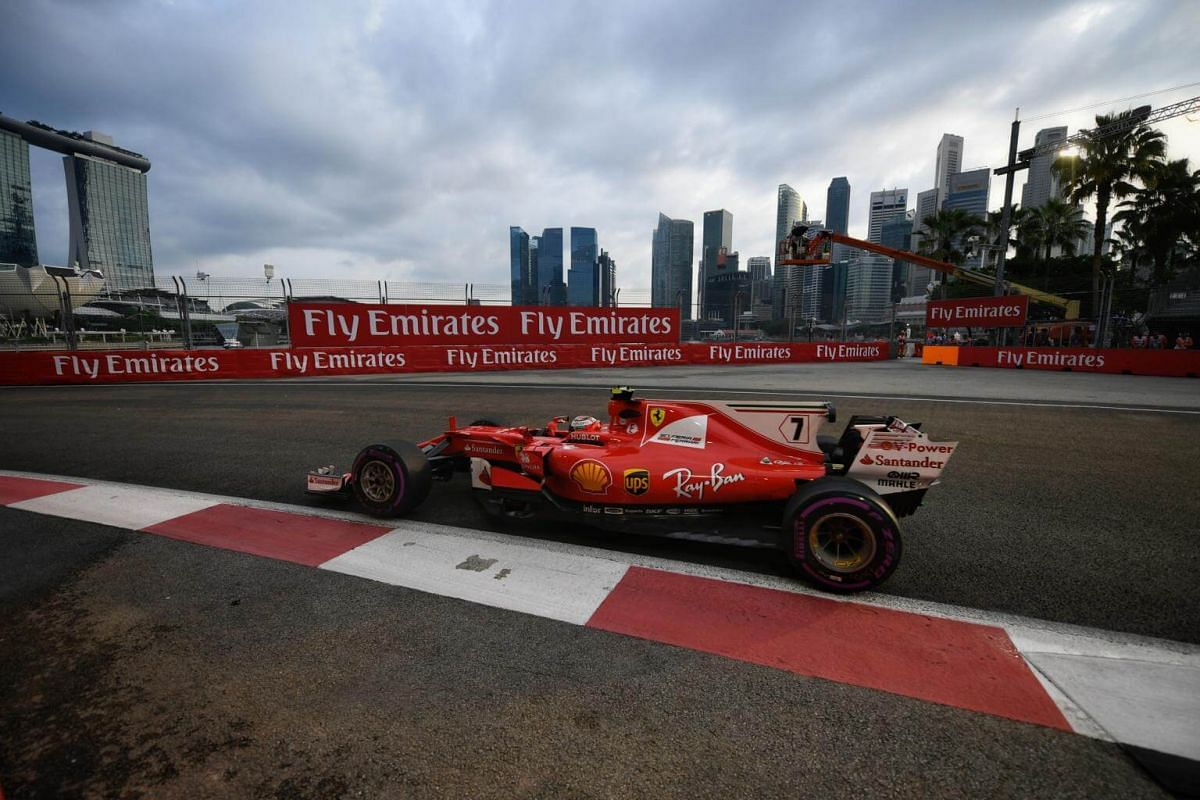 First and second practice session of the 2017 Formula One Singapore Airlines Singapore Grand Prix on Friday, Sept 15 2017.